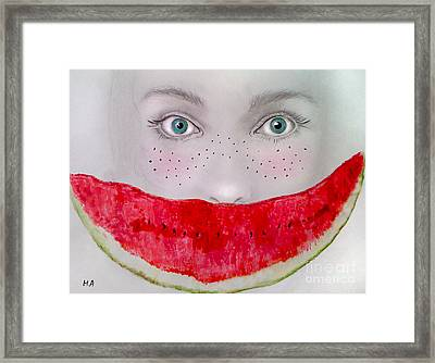 Smile Framed Print by Maria Hakobyan