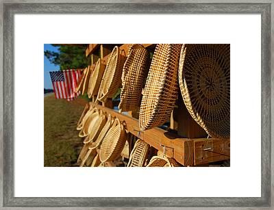 Sweetgrass Baskets Framed Print