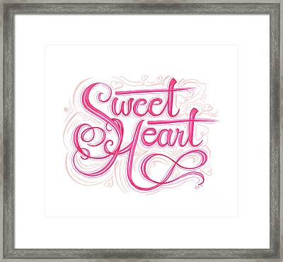 Framed Print featuring the drawing Sweetheart by Cindy Garber Iverson