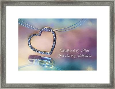 Sweetheart Of Mine Framed Print by Lori Deiter