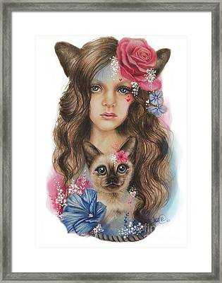 Framed Print featuring the mixed media Sweetheart by Sheena Pike