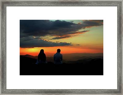 Framed Print featuring the photograph Sweetheart Sunset by Jessica Brawley