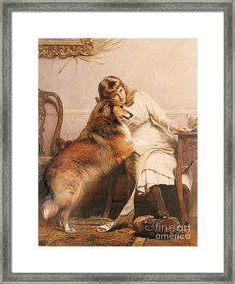 Sweethearts, 1890 Framed Print