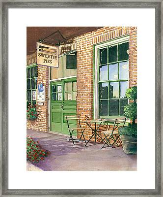 Framed Print featuring the painting Sweetie Pies Bakery by Gail Chandler