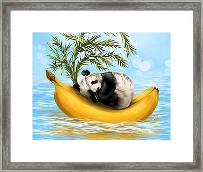 Sweetly Cradled Framed Print by Veronica Minozzi