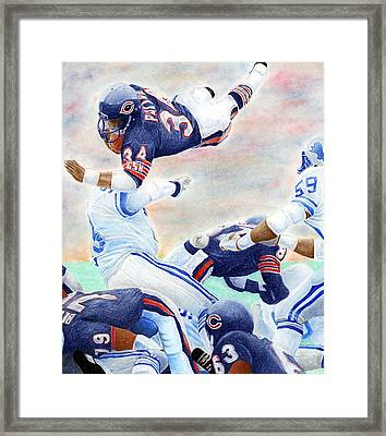 Sweetness Over The Top Framed Print