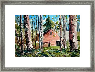 Sweetwater Farm In The Valley With A Doubled Matt Framed Print