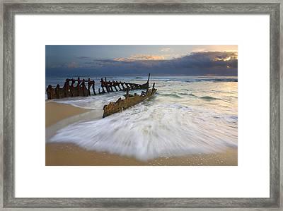 Swept Ashore Framed Print