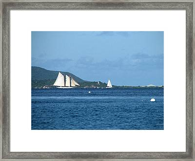Swept Away Framed Print by Ginger Howland