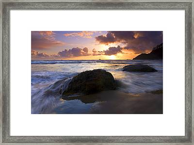 Swept Away Framed Print by Mike  Dawson