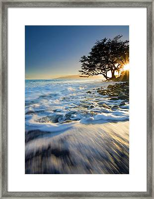 Swept Out To Sea Framed Print by Mike  Dawson