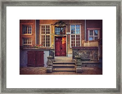 Swietego Ducha Street In Gdansk  Framed Print by Carol Japp