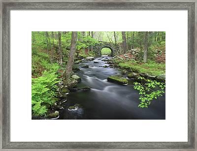 Swift River And Keystone Bridge Quabbin Reservoir Framed Print by John Burk