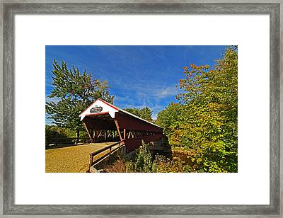 Swift River Bridge Conway Nh Framed Print by Toby McGuire