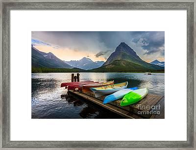 Swiftcurrent Canoes Framed Print