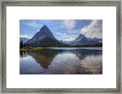 Swiftcurrent Lake And Mount Grinnell Framed Print