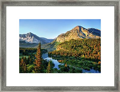 Swiftcurrent Morning Framed Print