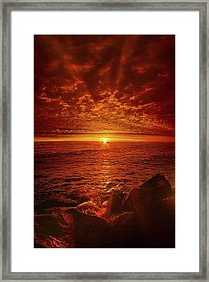 Framed Print featuring the photograph Swiftly Flow The Days by Phil Koch
