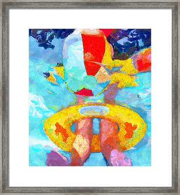 Swim Framed Print
