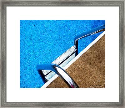 Swim Framed Print by Mary Beth Landis