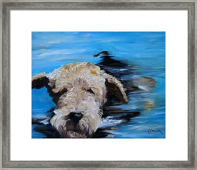 Swim Framed Print by Mary Sparrow