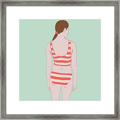 Swim Framed Print by Nicole Wilson