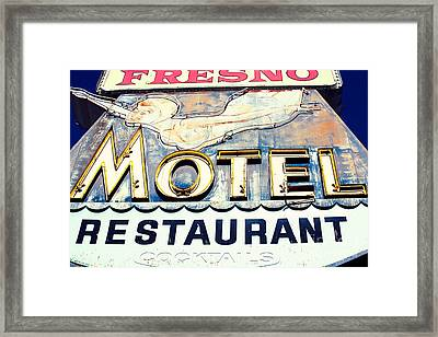 Swimgirl Motel  Framed Print