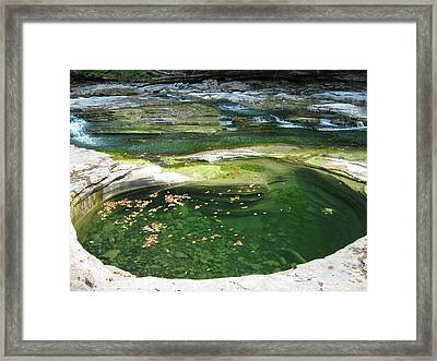 Framed Print featuring the photograph Swimhole by Tony Murray