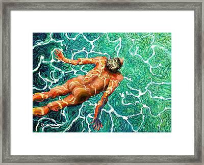 Swimmer Framed Print by Paul Sierra