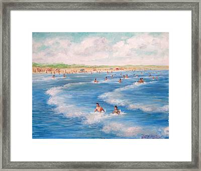 Second Beach, Newport Ri  Framed Print