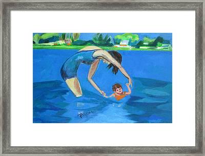 Swimmin' Framed Print by Betty Pieper