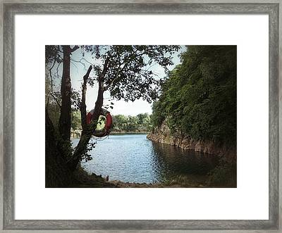 Framed Print featuring the photograph Swimming At The Quarry by Karen Stahlros