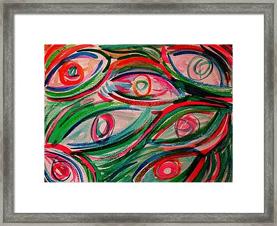 Swimming Eyes 2 Framed Print by Margie  Byrne