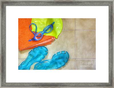 Swimming Gear Framed Print by Carlos Caetano