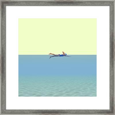 Swimming Girl Framed Print