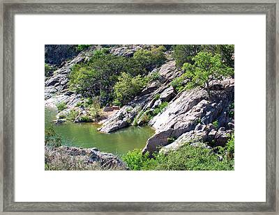 Framed Print featuring the photograph Swimming Hole by Teresa Blanton