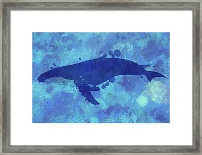 Swimming Humpback Framed Print