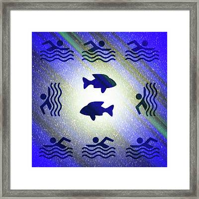 Swimming In The Cosmic Sea Framed Print