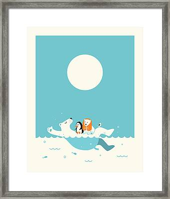 Swimming Lessons 1 Framed Print