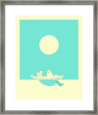 Swimming Lessons Framed Print by Jazzberry Blue