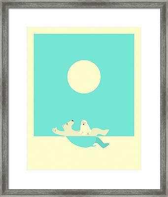 Swimming Lessons Framed Print