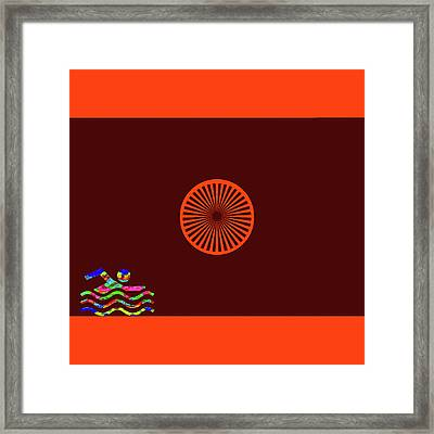 Swimming On Mars Framed Print