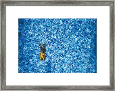 Swimming Pool Days Framed Print by Happy Home Artistry