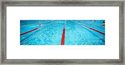 Swimming Pool Lap Lanes Framed Print