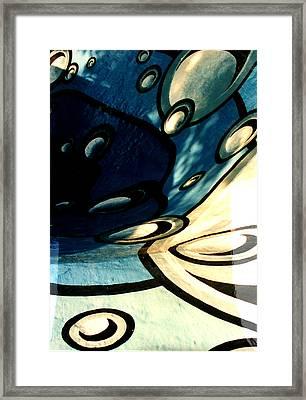 Swimming Pool Mural Detail 2 Framed Print by Rachel Christine Nowicki
