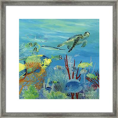 Swimming With Angels Framed Print by Danielle  Perry