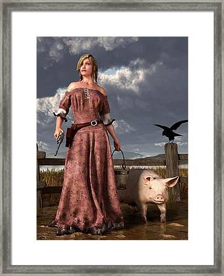 Swineherdess Framed Print by Daniel Eskridge