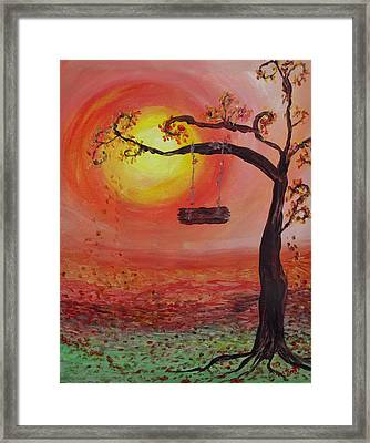 Swing Into Autumn Framed Print