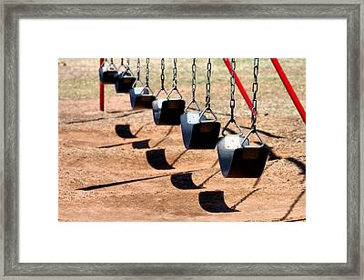Swing It Framed Print by Karen M Scovill