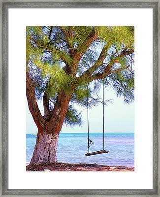 Swing Me... Framed Print by Karen Wiles